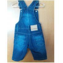 jardineira jeans para periquitos estilosos - 9 meses - Mania Kids