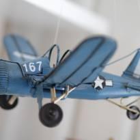 Avião retrô azul -  - Não informada