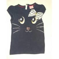 Camiseta de gatinha - 1 ano - Momi