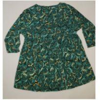 Vestido com estampa de rosas estilizadas - 4 anos - Green