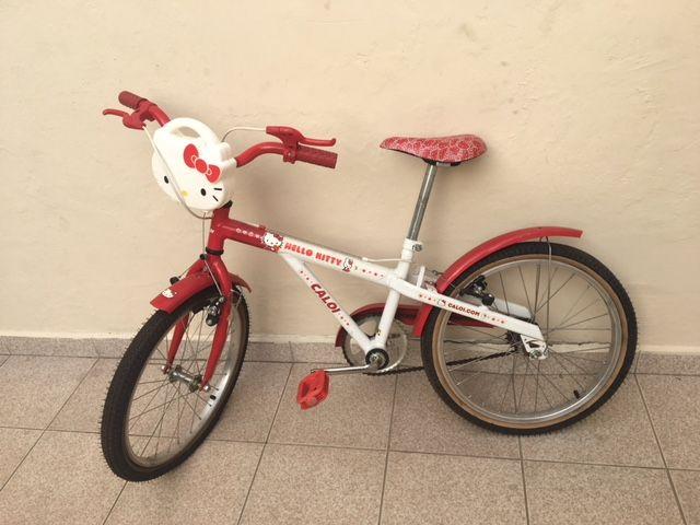 24e92934c Bicicleta Caloi Hello Kitty aro 20 no Ficou Pequeno - Desapegos de ...