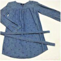 Bata Gap Kids tam M infantil, veste 8/9 anos jeans estampada com faixa - 9 anos - GAP