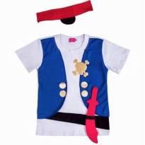 Camiseta Pirata - 2 anos - Não informada