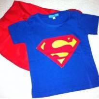 Camiseta Superman - 2 anos - Não informada