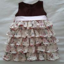 Vestido de festa babados - 9 a 12 meses - Liminha Doce