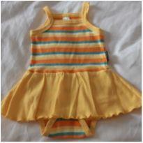 Vestido amarelo Bebê Básico - 6 a 9 meses - BB Básico