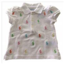 Camisa Polo mini logos Ralph Lauren - 18 a 24 meses - Ralph Lauren