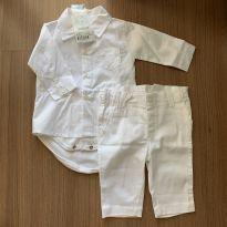 Conjuntinho social branco - 0 a 3 meses - Noruega Baby