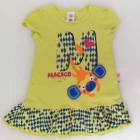 Vestido Macaco (1/2 anos) - Zig Zig Zaa Malwee - 12 a 18 meses - Zig Zig Zaa e Malwee