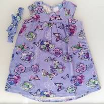 Vestido Borboleta com Faixinha (9 a 12 meses) - Malwee - 9 a 12 meses - Malwee