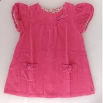 Vestido de Veludo Canelado Rosa (1/2 anos) - Baby Club C&A - 12 a 18 meses - Baby Club