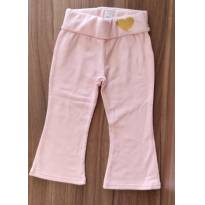 Calça de Moleton Flare Rosa (1/2 anos) - Baby Club C&A - 12 a 18 meses - Baby Club e C&A
