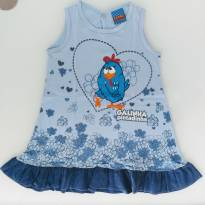 Vestido Galinha Pintadinha Azul (2/3 anos) - Malwee - 3 anos - Malwee