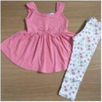 Conjunto Floral (3 anos) - Baby Club C&A - 3 anos - Baby Club