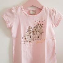 Camiseta Rosinha - 1 ano - Milon