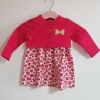 Vestido oncinha com casaquinho - 9 meses - Brandili