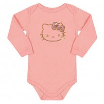 Body Hello Kitty Rosa Blush - Tam M - 3 a 6 meses - Hello  Kitty