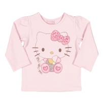 Blusa Manga Longa Hello Kitty  Tam G - 6 a 9 meses - Hello  Kitty