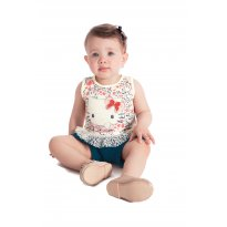 Blusa Hello Kitty Baby - Tam M - 3 a 6 meses - Hello  Kitty