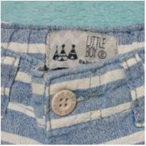 Bermuda de sarja listrada - 18 a 24 meses - Little Boy