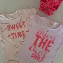 2 camisetas - 6 anos - Palomino e Quimby