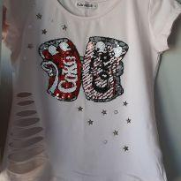 kit com 07 blusas e um shortinho - 12 anos - Palomino e Hering