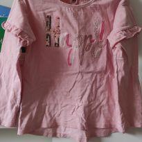 Camiseta Rosa Happy - 4 anos - Poim