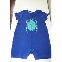 0186-Primavera e Verão: Macacão curto Baby Gap azul - 3 a 6 meses - Baby Gap