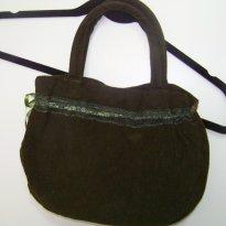 0343-Bolsa de mão em veludo - Sem faixa etaria - Artesanal