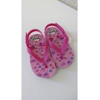 0367-Chinelo rosa Pimpolho corações - 20 - Pimpolho
