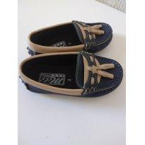 0615-Mocassim azul marinho e creme - 23 - mili