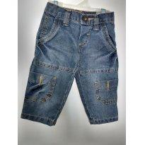 0609-Calça jeans - 3 a 6 meses - Druca Malhas
