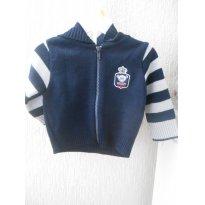 0651-Blusa de lã com zíper Pulla Bulla Baby - 6 a 9 meses - Pulla Bulla