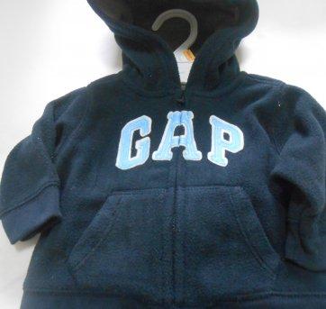 0652-Agasalho GAP azul marinho - 3 a 6 meses - Baby Gap