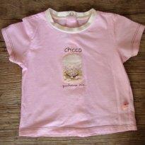 0671-CAMISETA BEBÊ ABOTOADA CHICCO - 6 meses - Chicco