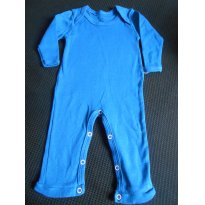 0699-Macacão azul turquesa - 6 a 9 meses - Bambini