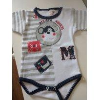 0786-Body macaquinho - 3 meses - Sof & Enz Kids