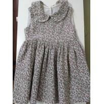 0882-Vestido de flores miúdas - 12 a 18 meses - Não informada