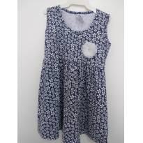 0961-Vestidinho floral marinho - 2 anos - polegar