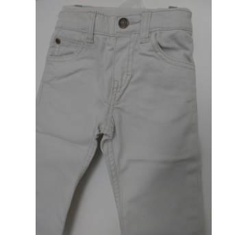1153-Calça em jeans creme Carter