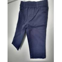 1160-Calça azul marinho em sarja - 9 meses - Carter`s