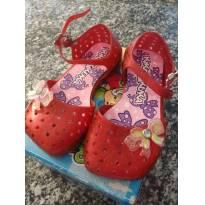 1180-Sandália vermelha plástica - 22 - Kiko & Kuka