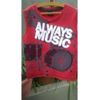 1383-Camiseta regata Musica - 6 anos - One Boy
