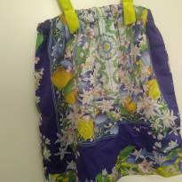 1534-Vestido flores e frutos - 12 a 18 meses - Green