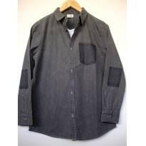 1549-Camisa jeans preta - 13 anos - Zara
