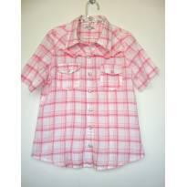 1548-Camisa xadrez rosa - 10 anos - Le Lis Petit