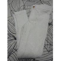 1555-Calça branca rendada - 7 anos - Zara