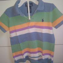 1605-Camisa polo listrada - 24 a 36 meses - Ralph Lauren