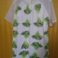 1625-Vestido alface - 6 anos - Green