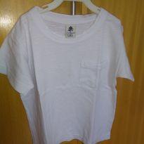 1613-Camiseta branca básica - 24 a 36 meses - Póim